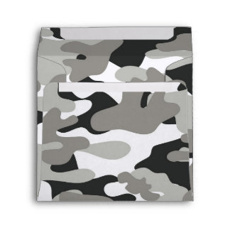 Black and Gray Camo Envelope