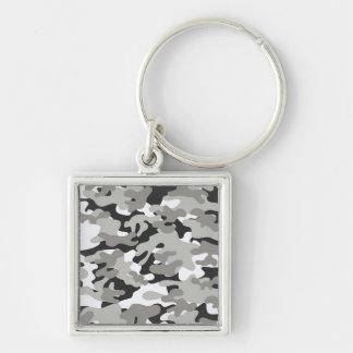 Black and Gray Camo Keychain
