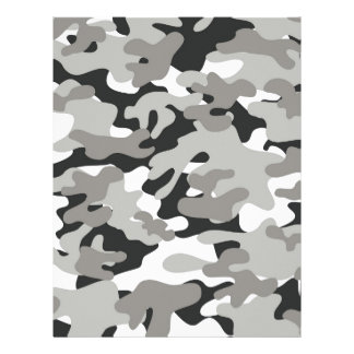 Black and Gray Camo Letterhead
