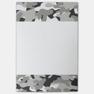 Black and Gray Camo Post-it Notes