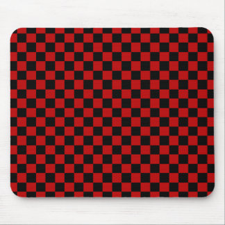 Black and Gray Checked Mousepad