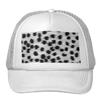 Black and Gray Cheetah Print Pattern. Mesh Hat