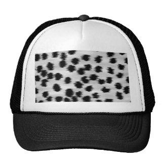 Black and Gray Cheetah Print Pattern. Trucker Hat