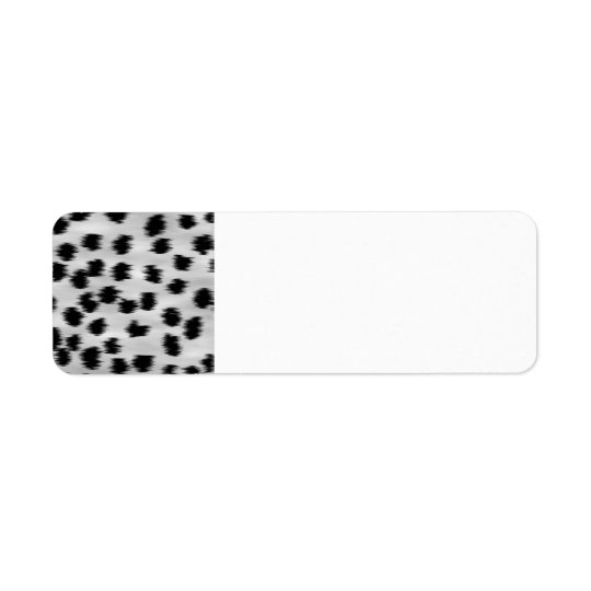 Black and Gray Cheetah Print Pattern. Label