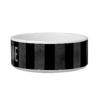 Black and gray dark stripes bowl