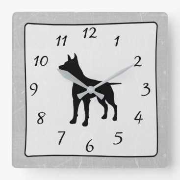 Professional Business Black and Gray Dog Clock