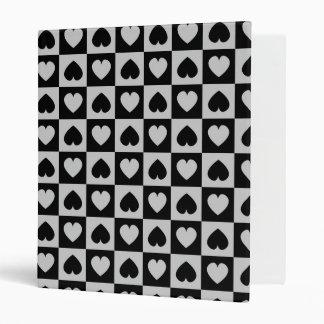 Black and Gray Heart Design Binder