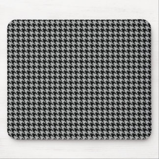 Black and Gray Hounds Tooth Mousepad