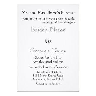 Black and Gray 5x7 Paper Invitation Card