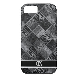 Black and Gray Jungle Animal Patterns | Monogram iPhone 8/7 Case