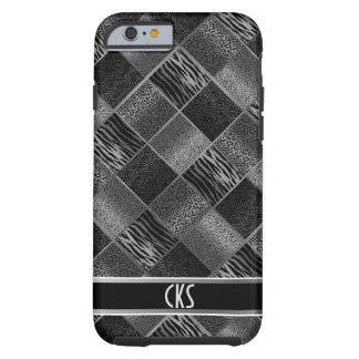 Black and Gray Jungle Animal Patterns | Monogram Tough iPhone 6 Case