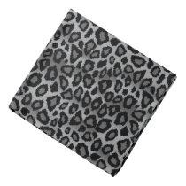 Black and Gray Leopard Animal Print Bandana