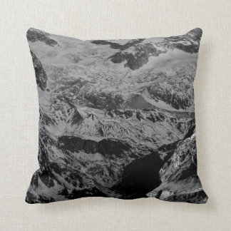Black and Gray Marble Pattern Pillow