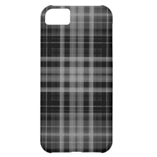 Black and Gray Plaid Case For iPhone 5C