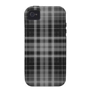 Black and Gray Plaid iPhone 4/4S Covers