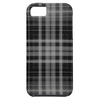 Black and Gray Plaid iPhone 5 Case