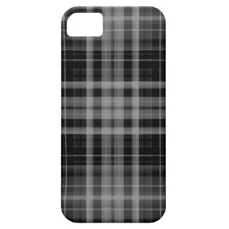 Black and Gray Plaid iPhone 5 Cover