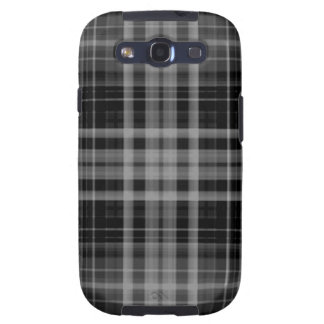 Black and Gray Plaid Samsung Galaxy S3 Covers