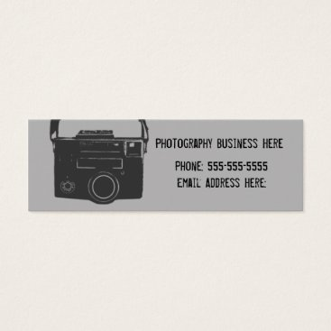 Professional Business Black and Gray Retro Film Camera Business Card
