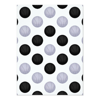 Black and Gray / Silver Basketball Pattern Card
