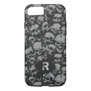 Halloween Themed Black and Gray Skull phone case