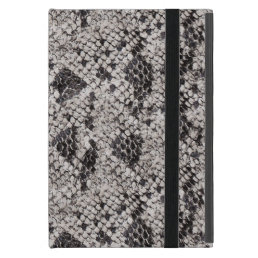 Black and Gray Snake Skin iPad Mini Cover