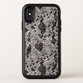 Black and Gray Snake Skin OtterBox Symmetry iPhone X Case