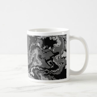 Black and Gray Squiggles Design Coffee Mug