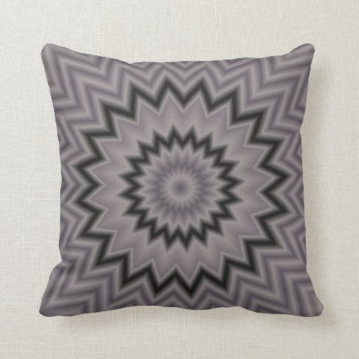 Decorative Pillows Black And Grey : Black and Gray Starburst Throw Pillow Zazzle