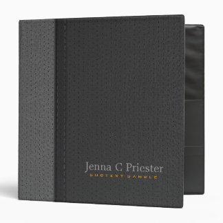 Black And Gray Stitched Leather Look Binder