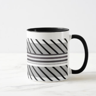 Black and gray striped pattern mug