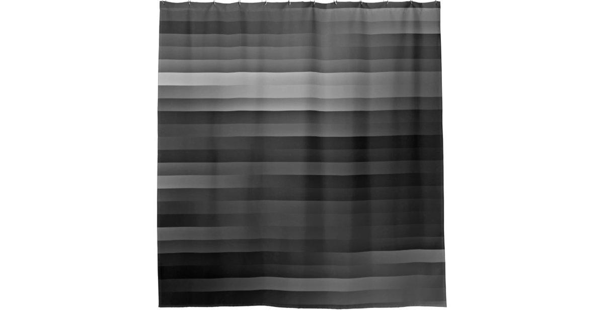 Black And Gray Striped Shower Curtain Zazzle Com