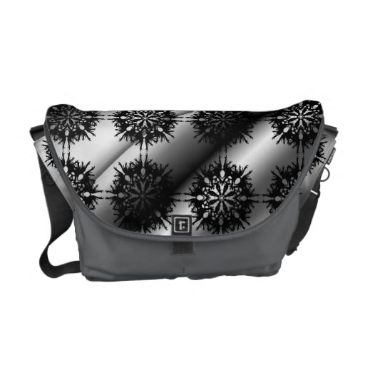 Black and Gray Stylish Elegant Pattern. Courier Bags