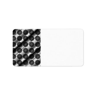 Black and Gray Stylish Elegant Pattern. Address Label