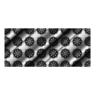 Black and Gray Stylish Elegant Pattern. Rack Card