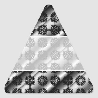Black and Gray Stylish Elegant Pattern. Triangle Sticker