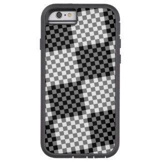 Black and Gray Tiled Geometric Checkered Pattern Tough Xtreme iPhone 6 Case