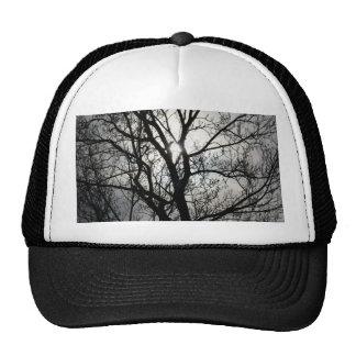 Black and Gray Tree Trucker Hat