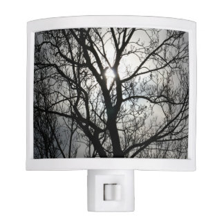 Black and Gray Tree Night Light