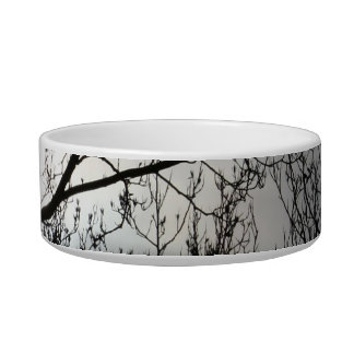 Black and Gray Tree Cat Food Bowls