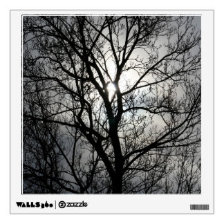 Black and Gray Tree Wall Decal
