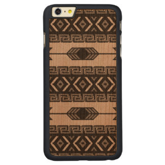 Black And Gray Tribal Aztec Pattern Phone Case Carved® Cherry iPhone 6 Plus Case