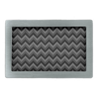 Black and Gray Zig Zag Pattern. Belt Buckle