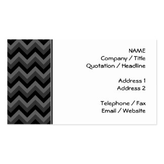 Black and Gray Zig Zag Pattern. Double-Sided Standard Business Cards (Pack Of 100)