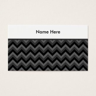 Black and Gray Zig Zag Pattern. Business Card