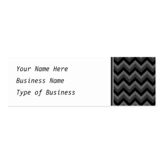 Black and Gray Zig Zag Pattern. Double-Sided Mini Business Cards (Pack Of 20)