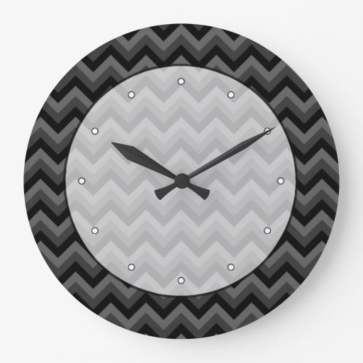 Black and Gray Zig Zag Pattern. Clocks