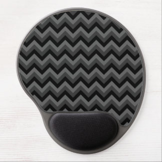 Black and Gray Zig Zag Pattern. Gel Mouse Pad
