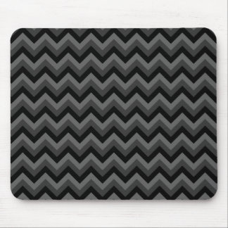 Black and Gray Zig Zag Pattern. Mouse Pad