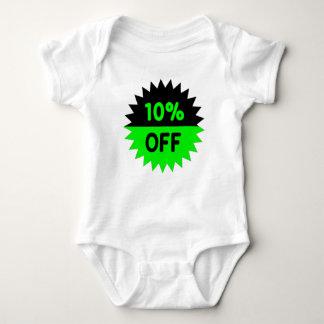 Black and Green 10 Percent Off Tshirt
